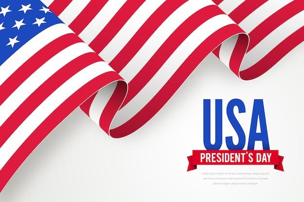 Promoção do dia do presidente com bandeira