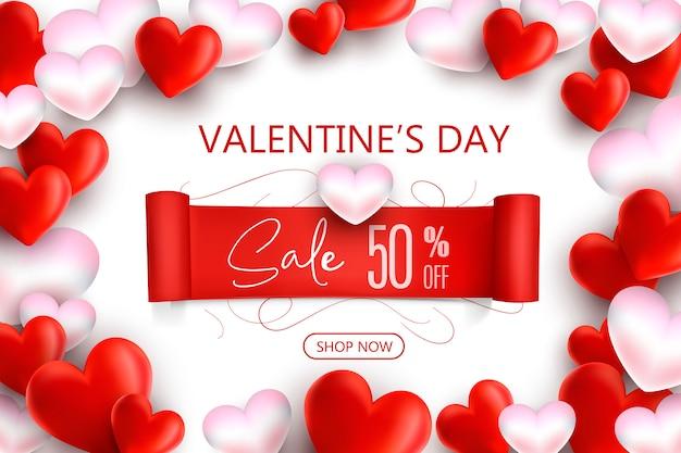 Promoção e modelo de compra para o conceito de amor, dia e dia dos namorados.
