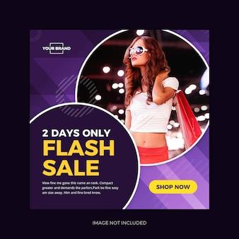 Promoção em flash violeta instagram promo social media