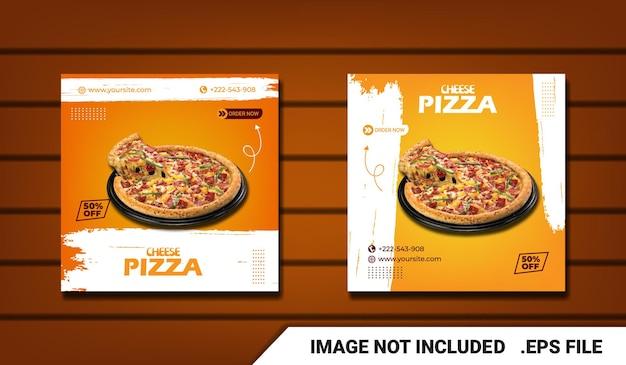 Promoção em mídia social de panfleto alimentar e postagem de banner no instagram