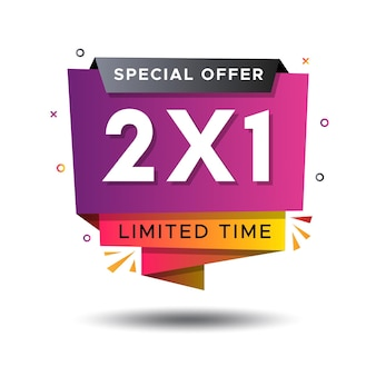 Promoção especial compre um e leve dois rótulos