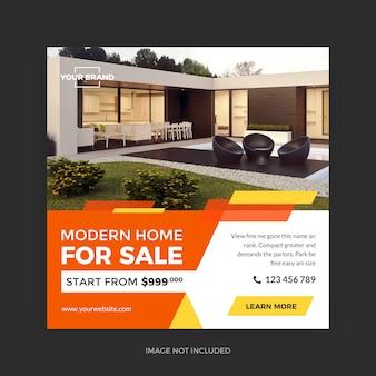 Promoção minimalista imobiliária
