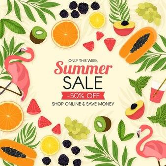 Promoção promocional de verão