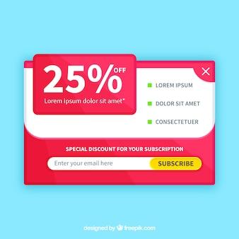 Promoção promocional moderna com design plano