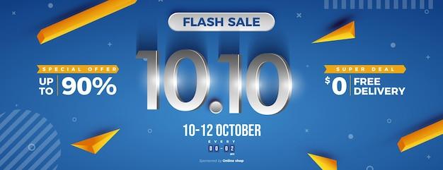 Promoção relâmpago em promoção 1010 com números de prata brilhantes