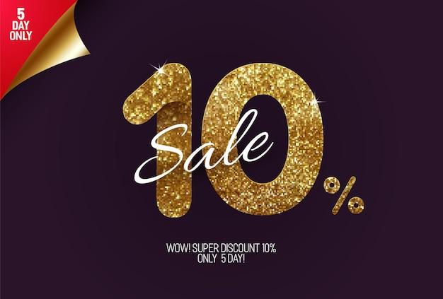 Promoção shine golden com 10% de desconto
