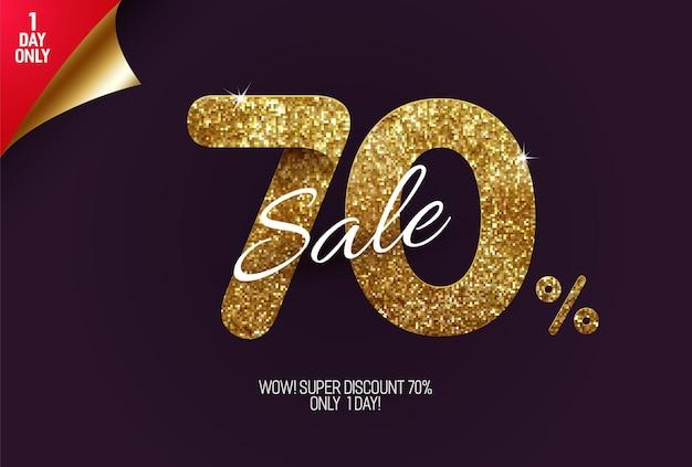 Promoção shine golden com 70% de desconto