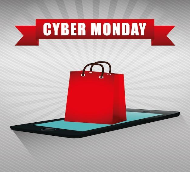 Promoções e vendas de e-commerce do cyber segundas-feiras