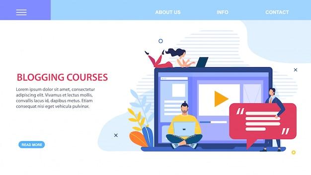 Prompt flyer inscrição blogging cursos flat.