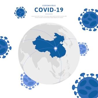 Propagação global do coronavírus