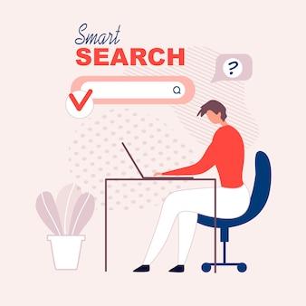 Propaganda plana para a tecnologia nfc smart search