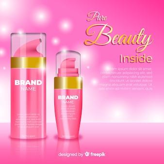 Propaganda realística da venda cosmética da beleza