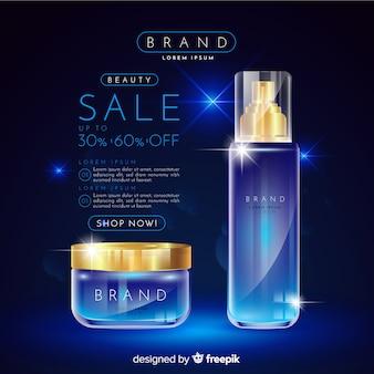 Propaganda realística da venda dos cosméticos da lavanderia