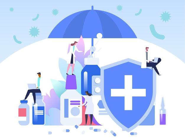 Proteção antibiótica. vacinação.