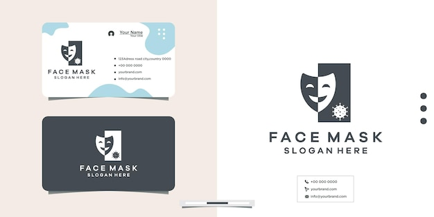 Proteção antivírus máscara moderna design de logotipo médico