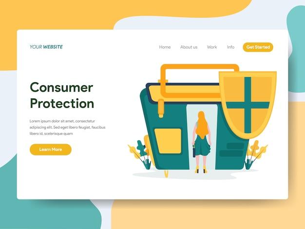 Proteção ao consumidor para a página do site