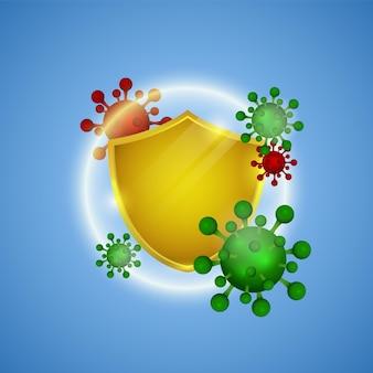 Proteção contra coronavírus ajuda imunidade pandemia covid19 surto de saúde e conceito médico