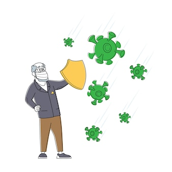 Proteção contra coronavírus, quarentena, conceito de bloqueio de surto de vírus novo