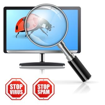 Proteção contra vírus e spam