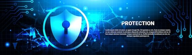 Proteção de banner horizontal de dados