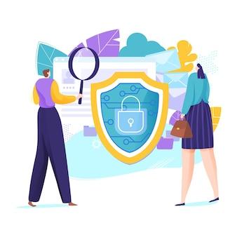 Proteção de dados antivírus de negócios online