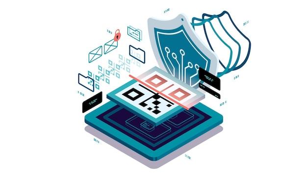 Proteção de dados ao digitalizar o código qr.