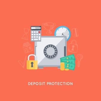 Proteção de depósito bancário
