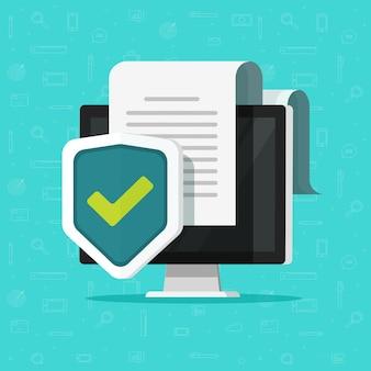 Proteção de documentos de computador ou segurança online