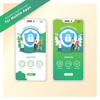 Proteção de saúde para aplicativos móveis
