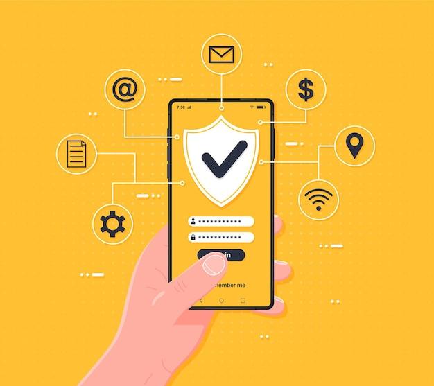 Proteção de segurança de verificação de código de senha para aviso de autorização no telefone celular