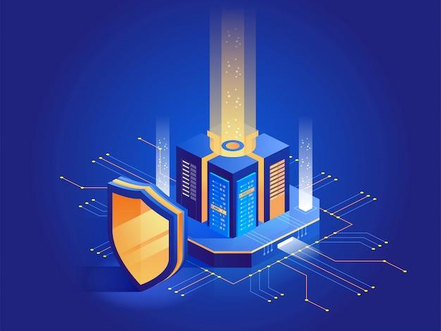 Proteção digital isométrica