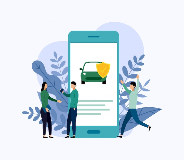 Proteção do carro, conceito do negócio