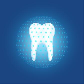 Proteção do dentista cuidando do conceito de dentes.