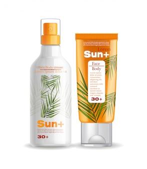 Proteção solar creme e loção