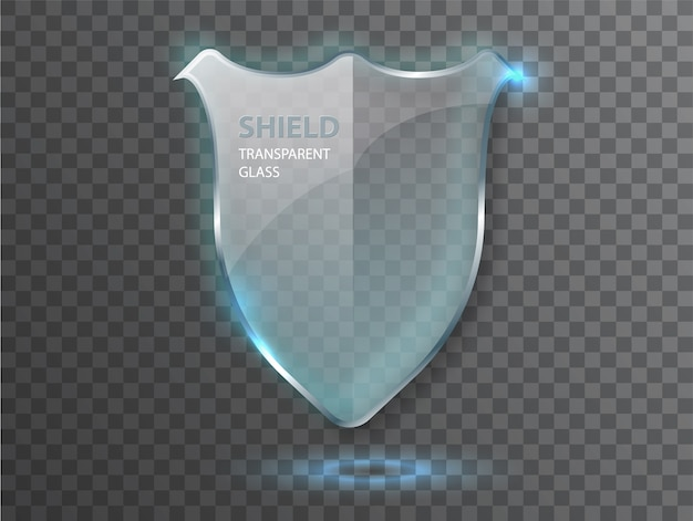 Protege o conceito de escudo de vidro de guarda.