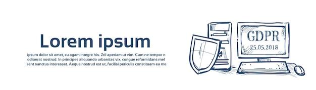 Proteger a segurança e protecção dos dados pessoais Vetor Premium