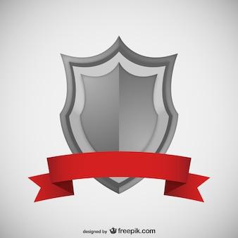 Proteger com vector fita vermelha