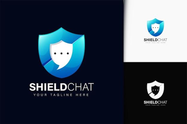 Proteger o design do logotipo do chat com gradiente