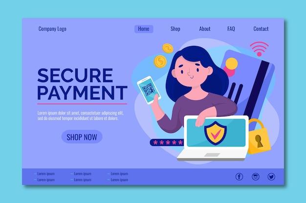 Proteja sua página de destino do pagamento on-line