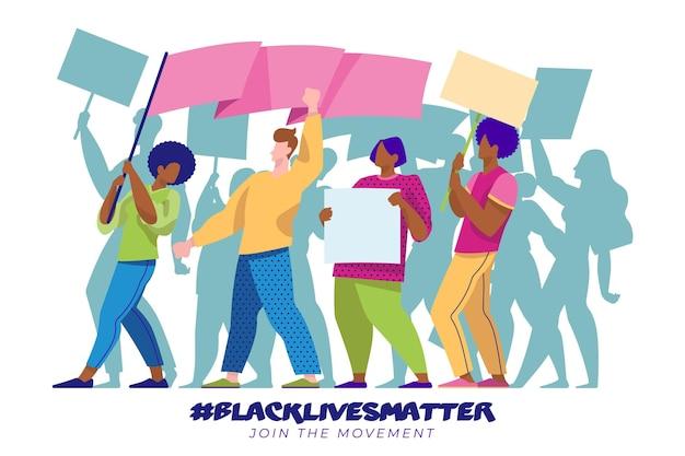 Protestando as pessoas contra o racismo