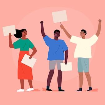 Protestando contra o conceito de pessoas
