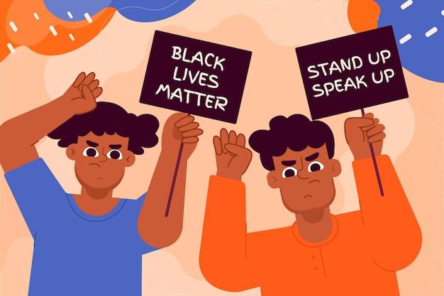 Protestando contra o racismo