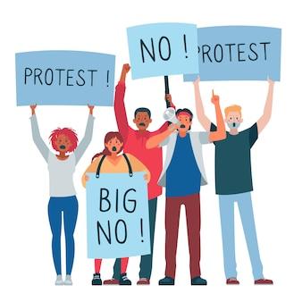 Protestando pessoas