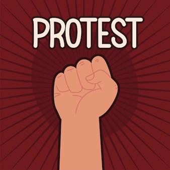 Protesto em punho