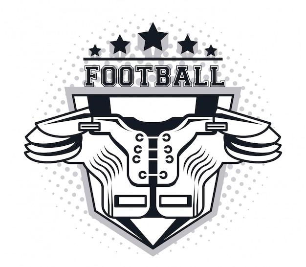 Protetor de peito de futebol