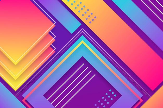 Protetor de tela colorido de formas gradientes