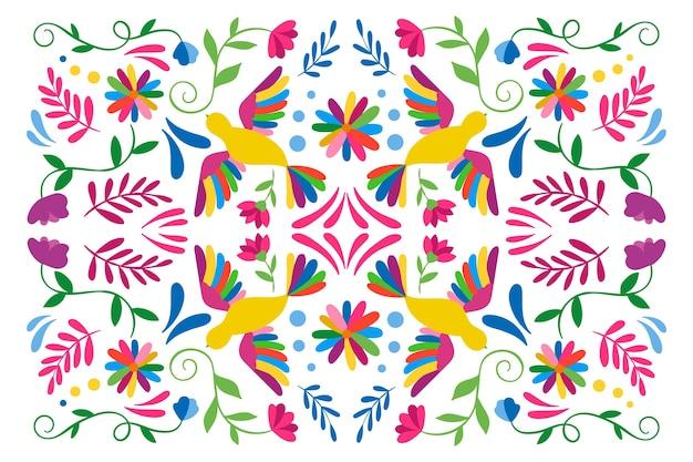 Protetor de tela colorido de mexicano com pássaros