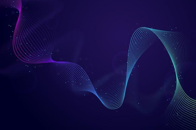 Protetor de tela colorido de onda sonora