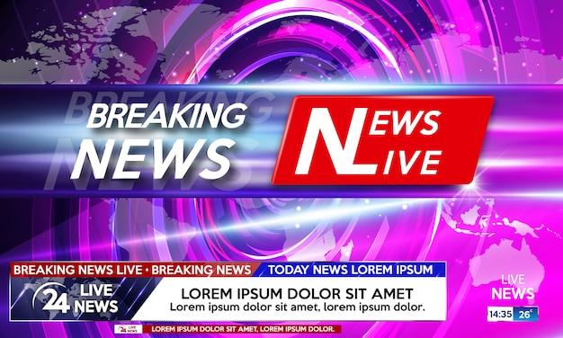 Protetor de tela de fundo em notícias de última hora.