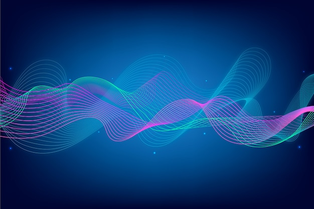 Protetor de tela de onda do equalizador abstrato
